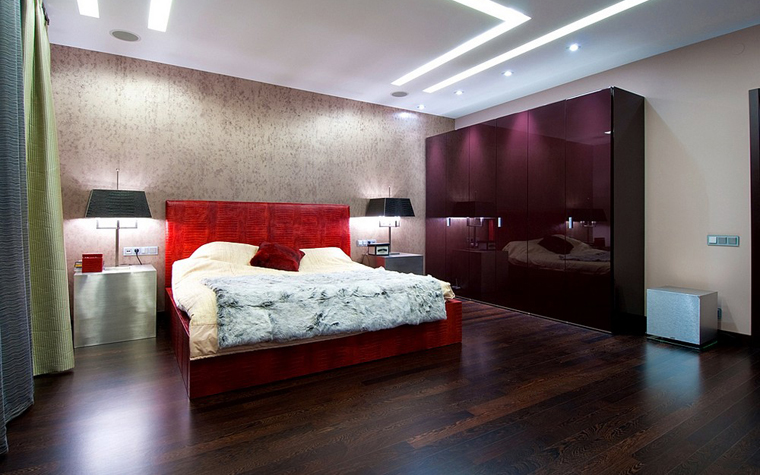Квартира. спальня из проекта , фото №9179