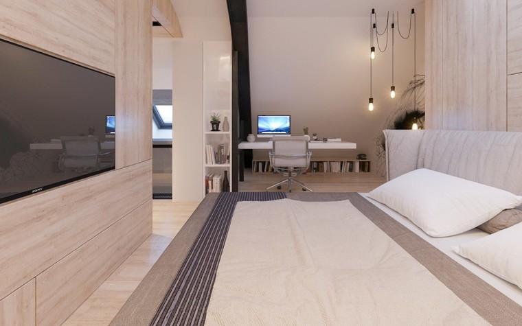 Квартира. спальня из проекта Квартира для творческий и позитивных людей., фото №79921