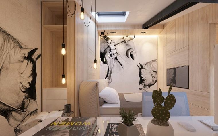 Квартира. спальня из проекта Квартира для творческий и позитивных людей., фото №79922