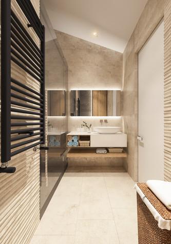 Квартира. ванная из проекта Квартира для творческий и позитивных людей., фото №79923