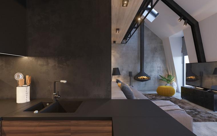 Квартира. кухня из проекта Квартира для творческий и позитивных людей., фото №79914