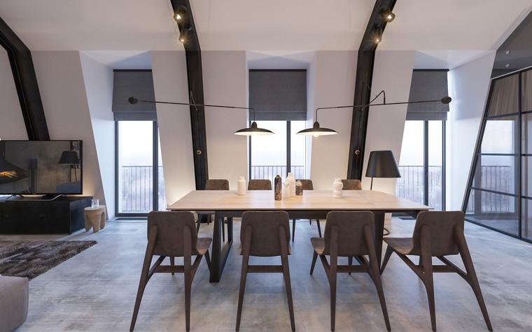 Квартира. кухня из проекта Квартира для творческий и позитивных людей., фото №79917