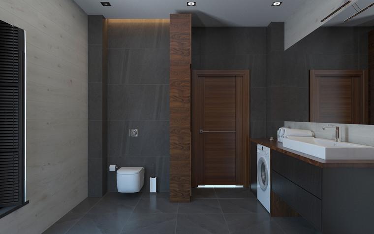 Квартира. ванная из проекта Дом в стиле лофт, фото №80627