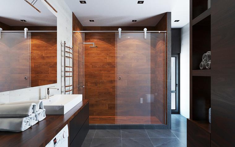 Квартира. ванная из проекта Дом в стиле лофт, фото №80628