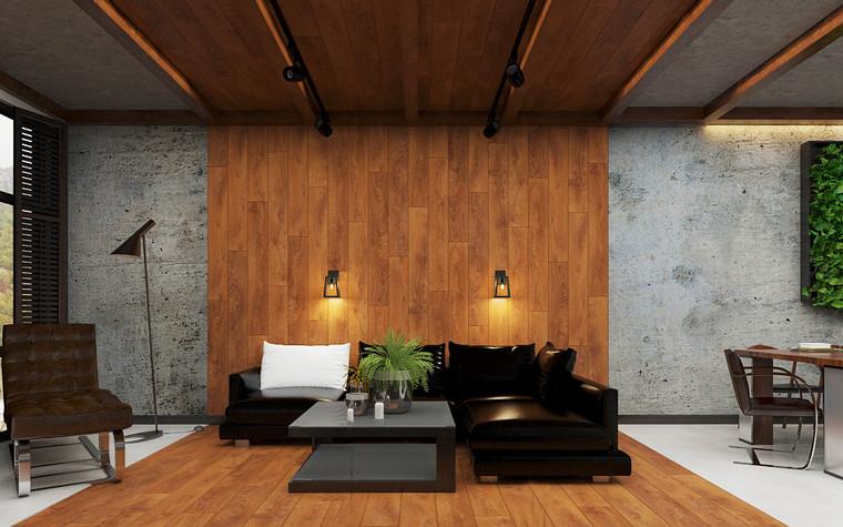 Квартира. гостиная из проекта Дом в стиле лофт, фото №80625