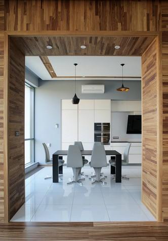Квартира. кухня из проекта Квартира в стиле минимализм, фото №80827