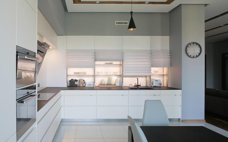 Квартира. кухня из проекта Квартира в стиле минимализм, фото №80828