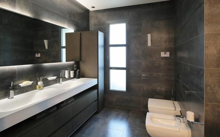 Квартира. ванная из проекта Квартира в стиле минимализм, фото №80830