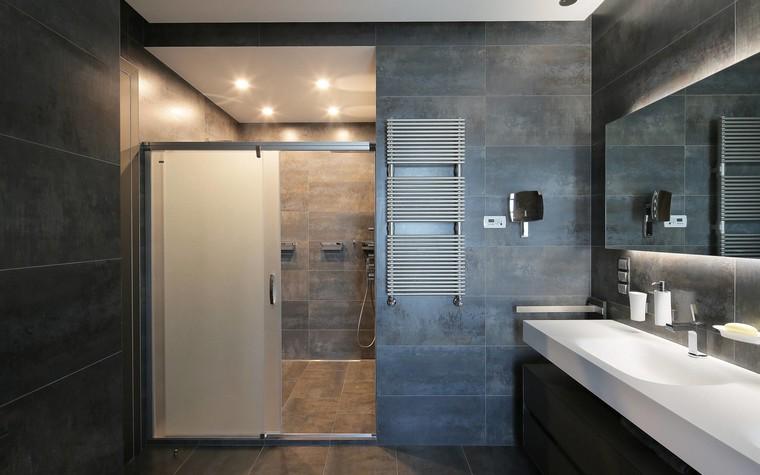 Квартира. ванная из проекта Квартира в стиле минимализм, фото №80831