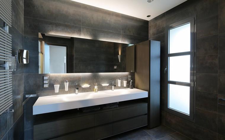 Квартира. ванная из проекта Квартира в стиле минимализм, фото №80832