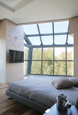 Квартира. спальня из проекта Квартира в стиле минимализм, фото №80834