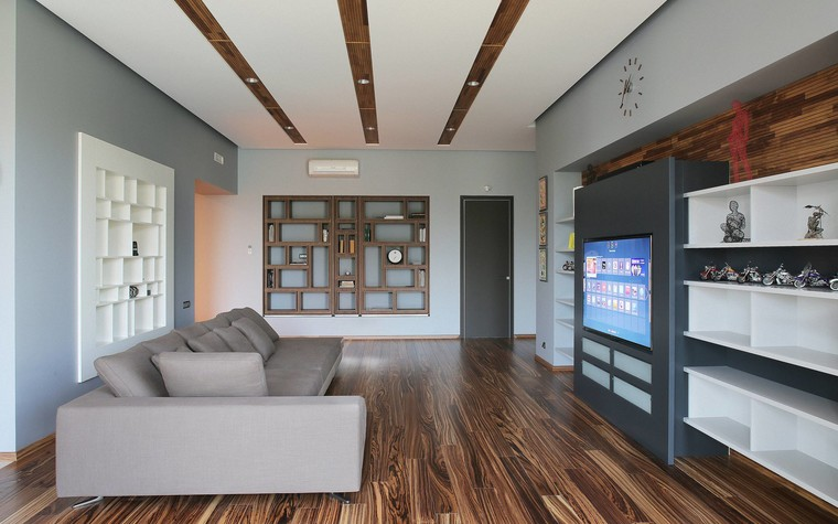 Квартира. гостиная из проекта Квартира в стиле минимализм, фото №80814