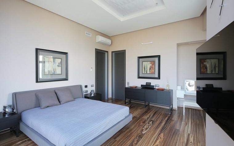 Квартира. спальня из проекта Квартира в стиле минимализм, фото №80836