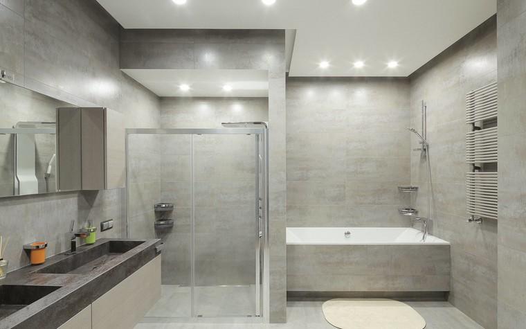 Квартира. ванная из проекта Квартира в стиле минимализм, фото №80838