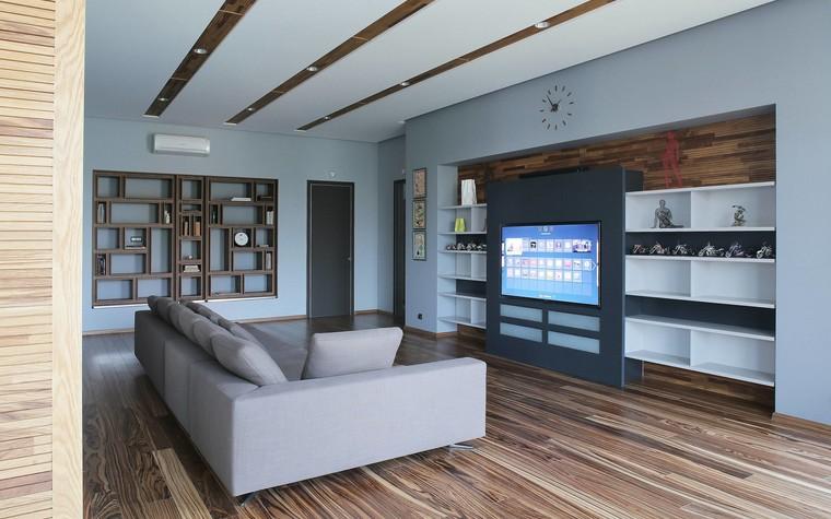 Квартира. гостиная из проекта Квартира в стиле минимализм, фото №80816