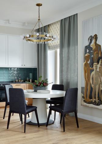Квартира. кухня из проекта Бирюзовый и терракота, фото №80949