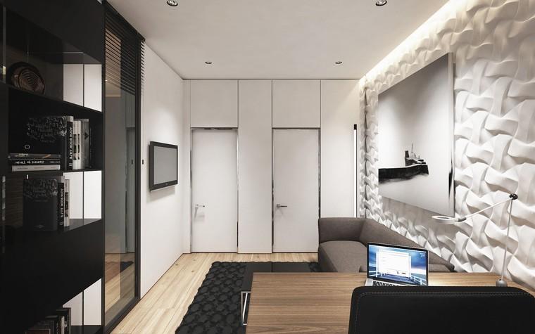 Квартира. кабинет из проекта ЖК Обыкновенное Чудо, фото №81026