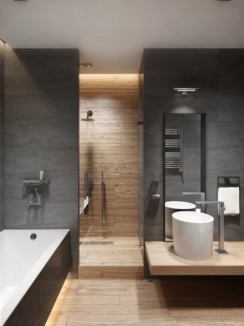 Квартира. ванная из проекта ЖК Обыкновенное Чудо, фото №81032