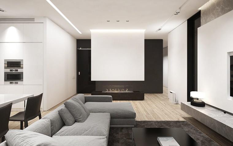 Квартира. гостиная из проекта ЖК Обыкновенное Чудо, фото №81020