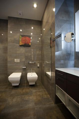 Квартира. ванная из проекта Квартира в современном стиле, фото №81054