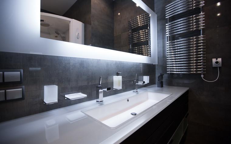 Квартира. ванная из проекта Квартира в современном стиле, фото №81055