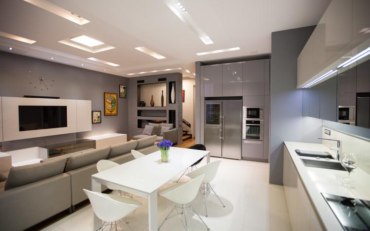 Квартира. кухня из проекта Квартира в современном стиле, фото №81042