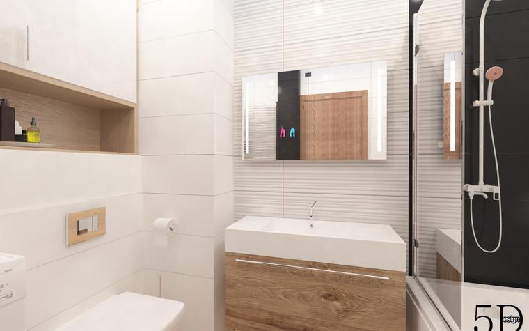 Квартира. ванная из проекта Однокомнатная квартира, фото №81285