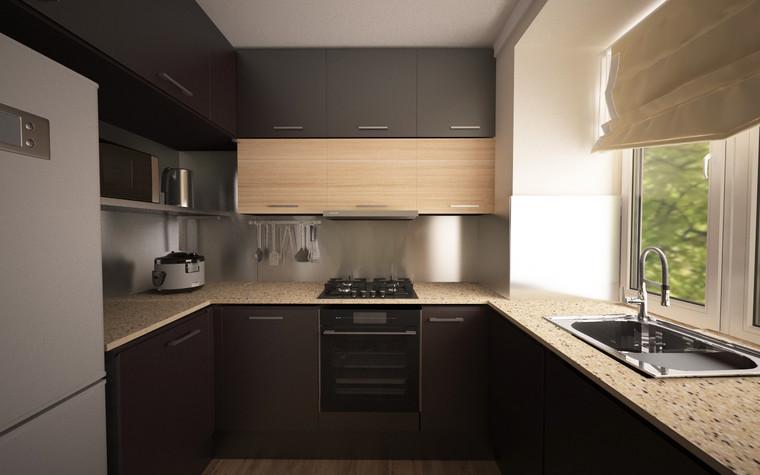 Квартира. кухня из проекта Однокомнатная квартира, фото №81284
