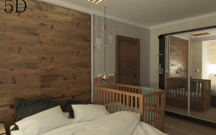 Квартира. спальня из проекта Однокомнатная квартира, фото №81280