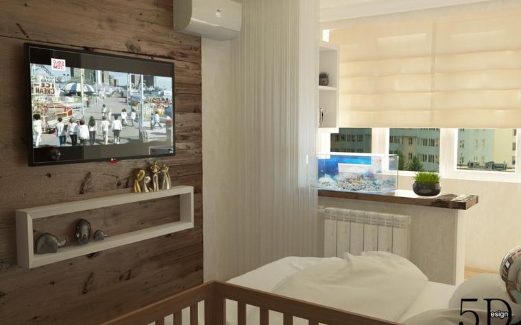 Квартира. спальня из проекта Однокомнатная квартира, фото №81281