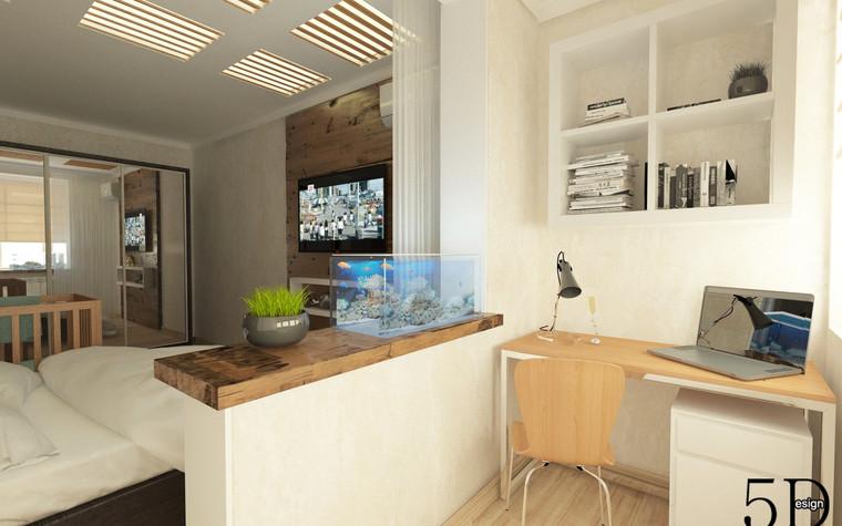 Квартира. спальня из проекта Однокомнатная квартира, фото №81282