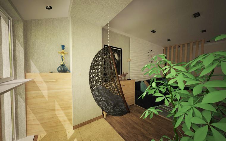 Квартира. гостиная из проекта Однокомнатная квартира, фото №81276