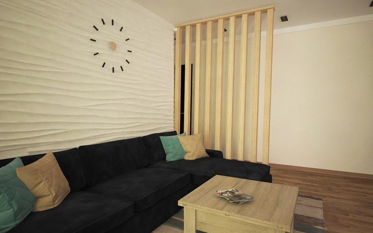 Квартира. гостиная из проекта Однокомнатная квартира, фото №81277
