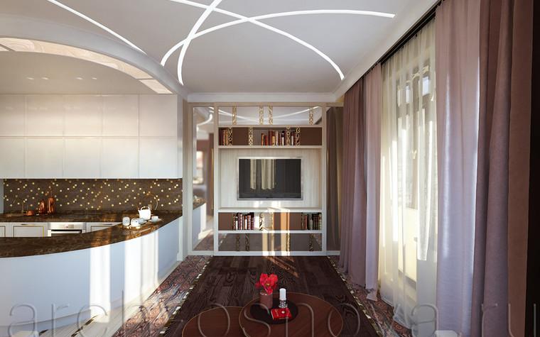 Квартира. гостиная из проекта Квартира на Таганке, фото №81382