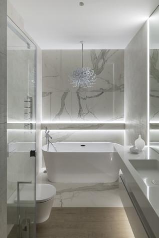 Квартира. ванная из проекта ЖК Мичуринский, фото №82215