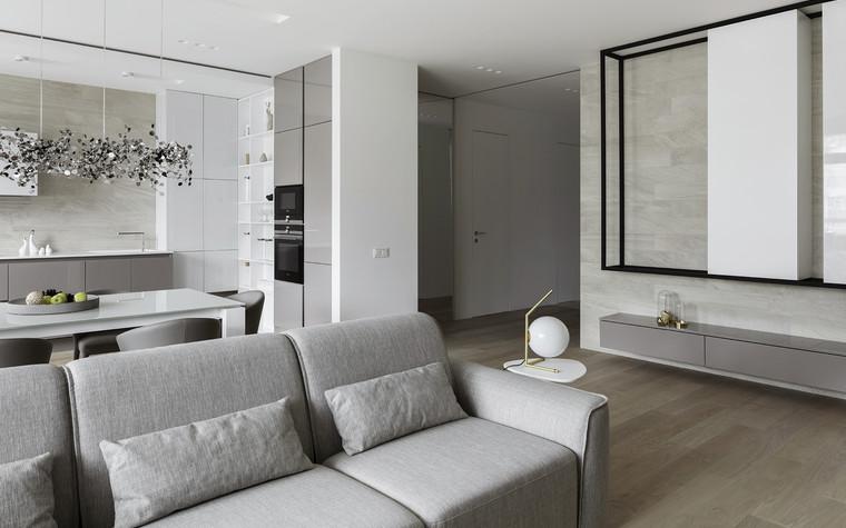 Квартира. гостиная из проекта ЖК Мичуринский, фото №82200