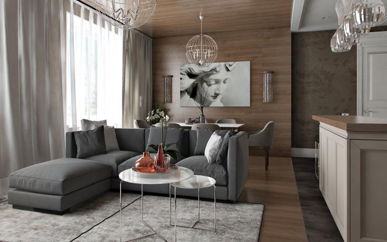 Квартира. гостиная из проекта AEROPORT FLAT, фото №83421
