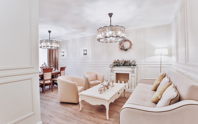 Квартира. гостиная из проекта Ideal classic, фото №84068