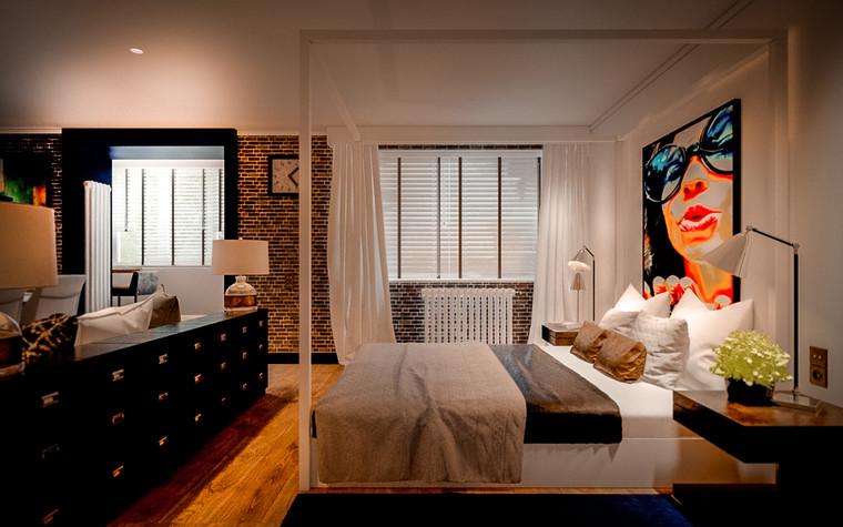 Квартира. спальня из проекта Kuchino, фото №85783