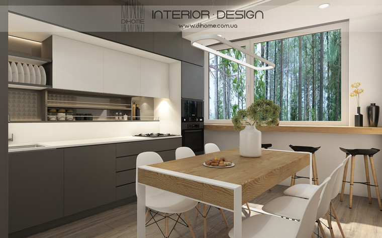 Квартира. кухня из проекта FOREST SILENCE, фото №89221