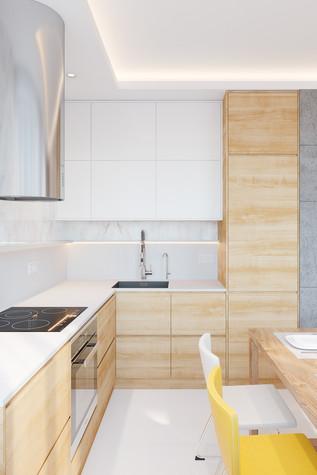 Квартира. кухня из проекта Comfort, фото №90464