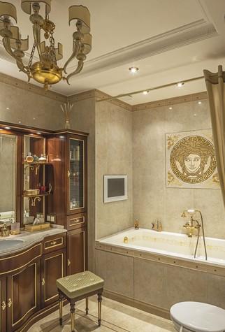 Квартира. ванная из проекта Пентхаус в ЖК Доминион, фото №91713