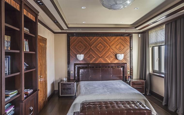 Квартира. спальня из проекта Пентхаус в ЖК Доминион, фото №91716