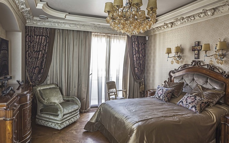 Квартира. спальня из проекта Пентхаус в ЖК Доминион, фото №91704