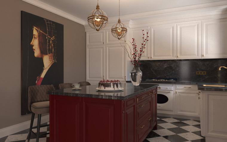 Квартира. кухня из проекта По следам Возрождения, фото №91837