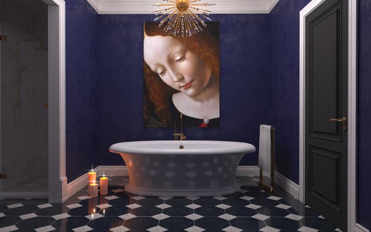 Квартира. ванная из проекта По следам Возрождения, фото №91846