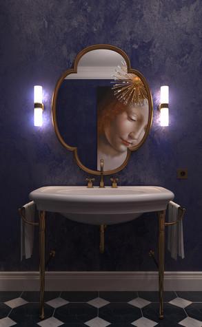 Квартира. ванная из проекта По следам Возрождения, фото №91847