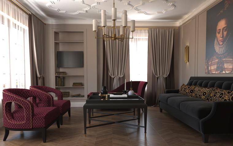 Квартира. гостиная из проекта По следам Возрождения, фото №91839