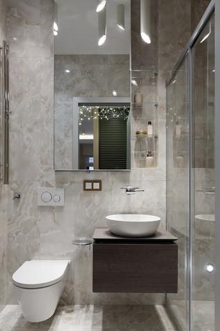 Квартира. ванная из проекта «Интерьер для миллениала», фото №91870