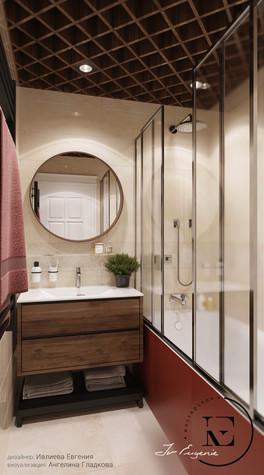Квартира. ванная из проекта Гармония роскоши и природы в ЖК Татьянин Парк, фото №93806